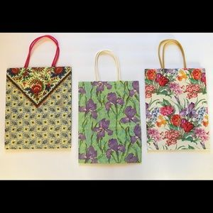 5 Floral Designed Paper Bags